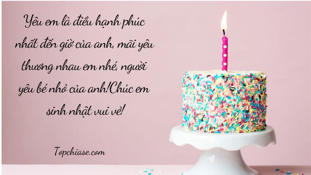Lời chúc mừng sinh nhật người yêu