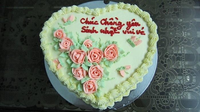 Bánh chúc mừng sinh nhật chồng yêu