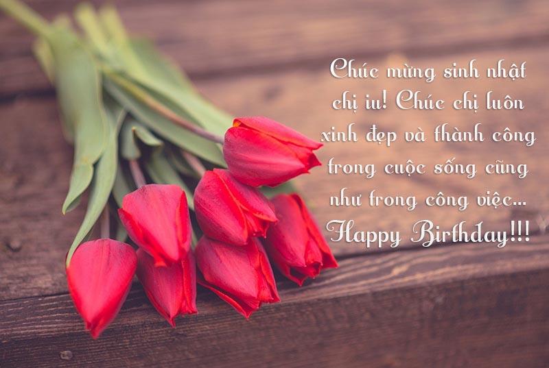 Lời chúc mừng sinh nhật chị yêu