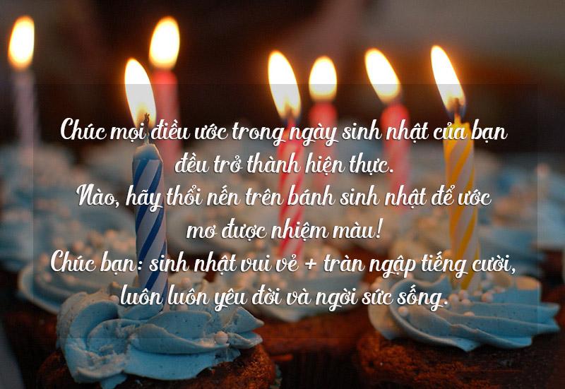 Lời chúc mừng cho ngày sinh nhật